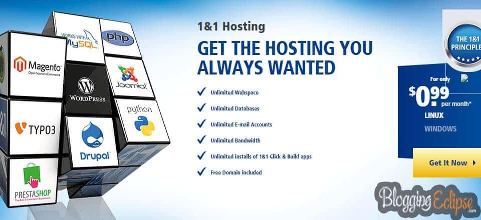 1&1 Dual Web Hosting