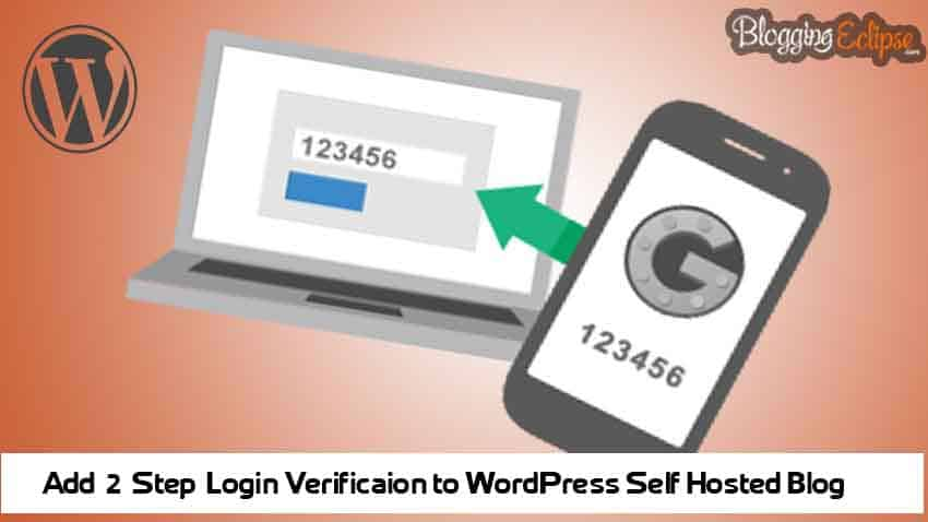 2 Step Verification to WordPress Blog