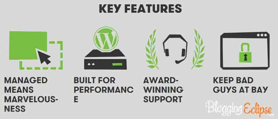 Goaddy Managed WP Hosting key features