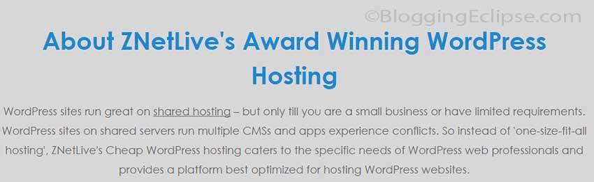 About ZnetLive WordPress Hosting