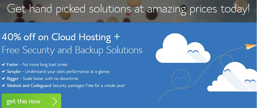 bluehost cloud hosting discount