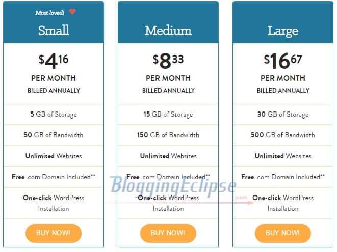 A Small orange WordPress hosting plans