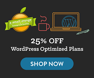 A Small Orange WordPress optimized coupon