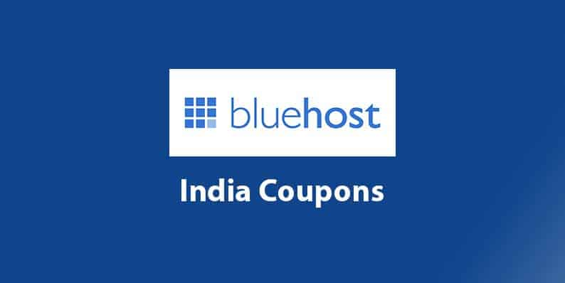 Bluehost India coupons