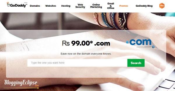 Godaddy-.COM-domain-coupon-India