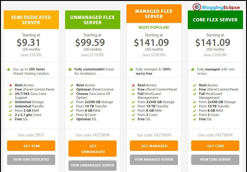 A2-Hosting-Dedicated server pricing