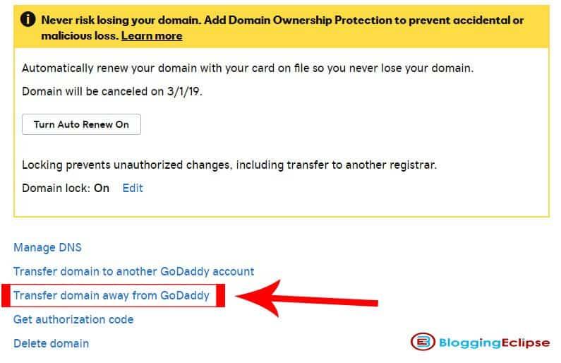 Transfer-domain-godaddy-step-2