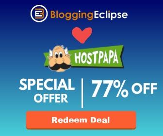Hostpapa special offer bloggineclipse