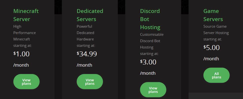PebbleHost Pricing Plans